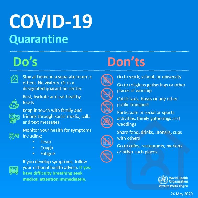 COVID 19 quarantine WHO hart