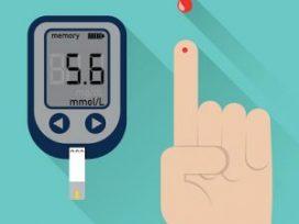 Blood-glucose-finger-prick-test