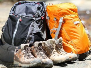 hiking backpacks and boots