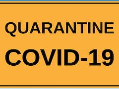 COVID 19 quarantine sign